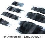 black acrylic paint stroke... | Shutterstock . vector #1282804024