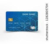 modern credit card template...   Shutterstock .eps vector #1282805704