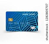 modern credit card template...   Shutterstock .eps vector #1282805707