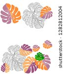 vector tropical pattern with... | Shutterstock .eps vector #1282812004