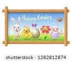easter portrait frame picture   ... | Shutterstock .eps vector #1282812874