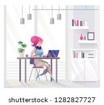 concept in flat style with... | Shutterstock .eps vector #1282827727