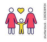 lesbian family color icon. same ... | Shutterstock .eps vector #1282828924