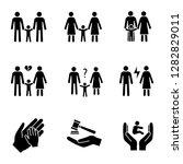 child custody glyph icons set....   Shutterstock .eps vector #1282829011