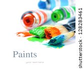 Colorful Paints And Artist...