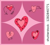 vector illustration of hearts... | Shutterstock .eps vector #1282840771