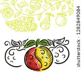 beautiful apples. vector... | Shutterstock .eps vector #1282849084