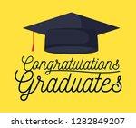 graduation class celebration... | Shutterstock .eps vector #1282849207