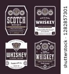 vector vintage whiskey and... | Shutterstock .eps vector #1282857301