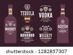 alcoholic drinks labels and... | Shutterstock .eps vector #1282857307