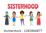 international women holding... | Shutterstock .eps vector #1282866877