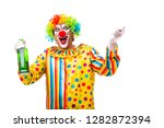 male clown isolated on white  | Shutterstock . vector #1282872394
