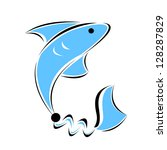 fish emblem | Shutterstock .eps vector #128287829