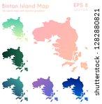 map of bintan island with... | Shutterstock .eps vector #1282880821
