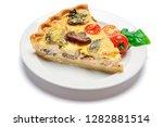 slice of traditonal homemade...   Shutterstock . vector #1282881514