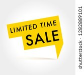 limited time sale vector label | Shutterstock .eps vector #1282889101