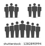 corporate team group. business... | Shutterstock .eps vector #1282890994