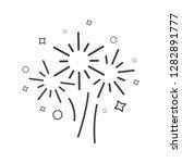 fireworks line icon  vector... | Shutterstock .eps vector #1282891777