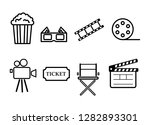 cinema icons. signs and symbols ... | Shutterstock .eps vector #1282893301