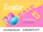 easter sale special offer... | Shutterstock .eps vector #1282895197