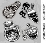 set of magic bottles.  vector... | Shutterstock .eps vector #1282895824