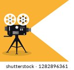 movie time concept. template... | Shutterstock .eps vector #1282896361