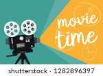 movie time concept. template... | Shutterstock .eps vector #1282896397