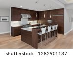 kitchen interior in new luxury... | Shutterstock . vector #1282901137