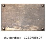 old wooden plank with vintage... | Shutterstock . vector #1282905607
