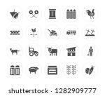 20 fruit  flower  vegetables ... | Shutterstock .eps vector #1282909777