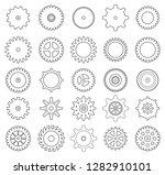 collection of retro gear icon.... | Shutterstock .eps vector #1282910101