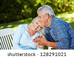 happy senior couple in love... | Shutterstock . vector #128291021