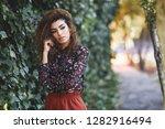 beautiful young arabic woman... | Shutterstock . vector #1282916494