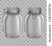 realistic 3d detailed glass jar ... | Shutterstock .eps vector #1282930954