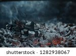 burning coal in iron brazier.... | Shutterstock . vector #1282938067