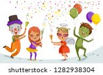 group of child celebrate  party ...   Shutterstock .eps vector #1282938304