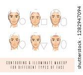 contour and highlight makeup.... | Shutterstock .eps vector #1282947094