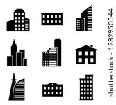 buildings different icons set.... | Shutterstock .eps vector #1282950544