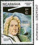 nicaragua   circa 1985  a stamp ... | Shutterstock . vector #128295347