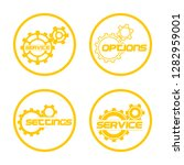 set service icons image of...   Shutterstock .eps vector #1282959001