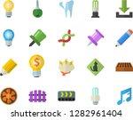 color flat icon set brick flat... | Shutterstock .eps vector #1282961404