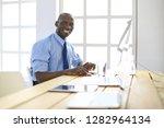 african american businessman on ... | Shutterstock . vector #1282964134