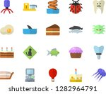 color flat icon set food... | Shutterstock .eps vector #1282964791