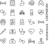 thin line icon set   bed vector ... | Shutterstock .eps vector #1282968184