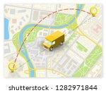 isometric city map navigation ...   Shutterstock .eps vector #1282971844
