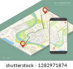 city map route navigation... | Shutterstock .eps vector #1282971874
