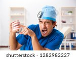 mad doctor working in the...   Shutterstock . vector #1282982227