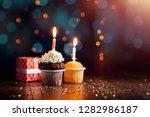 creative background  cupcake... | Shutterstock . vector #1282986187