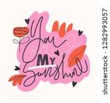 girl slogan for t shirt. modern ... | Shutterstock .eps vector #1282993057