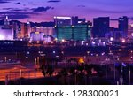 Stock photo las vegas vages strip at night panorama famous cities photo collection las vegas nevada usa 128300021
